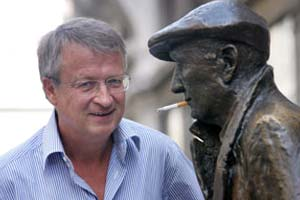 Famed Novelist Veit Heinichen Meets with Jantiena Fieyra in Trieste, Italy