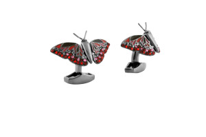 RT Butterfly Pink and Red Cufflinks