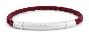 Tateossian Daytona Silver Red Bracelet