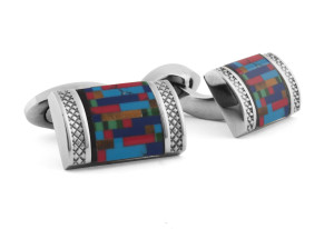 Titanium and Semi Precious Stone Multicolour Cufflinks