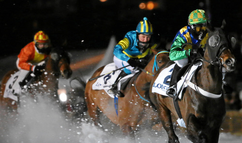 Night Turf St. Moritz – magnificent world premiere of the first horseraces by night on ice and snow