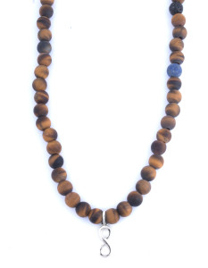 Tateossian Bali Tiger Eye and Infinity Knot Beads