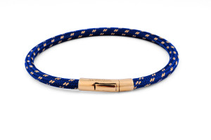 Tateossian Pop Chalif 18 Karat Gold Blue Bracelet