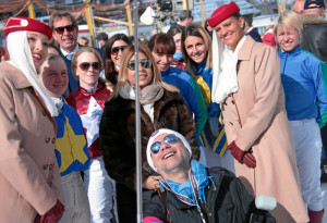ST. MORITZ, 21FEB16 - Impression vom dritten Renntag des White Turf in St. Moritz am 21. Februar 2016.  Impression of the White Turf St. Moritz, the famous international horse races on the frozen lake of St. Moritz, Switzerland, February 21, 2016.   swiss-image.ch/Photo Andy Mettler