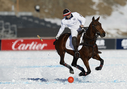 Yearly Polo Tournament on ice in St. Moritz Switzerland